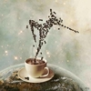 半杯热咖啡